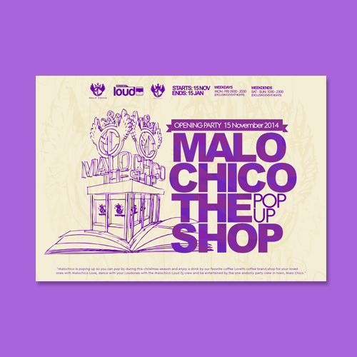 Postcard, flyer or print for Malo CHico by Litlast