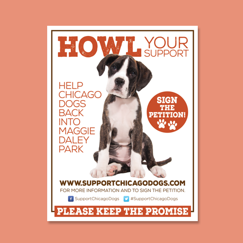 Postcard, flyer or print for SupportChicagoDogs.com by idoballyhoo