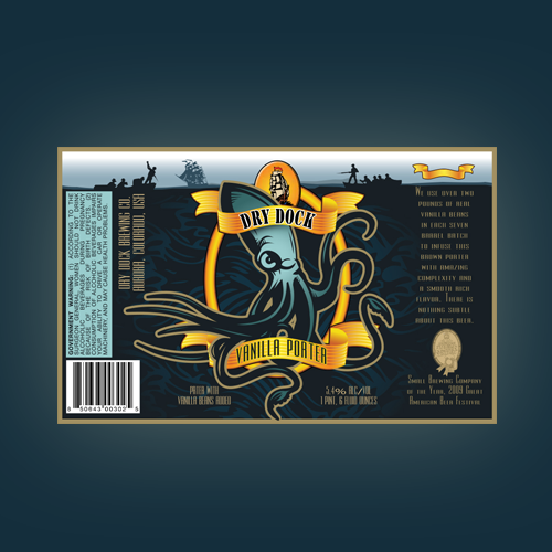 Product label for Dry Dock Brewing Co. by pmo