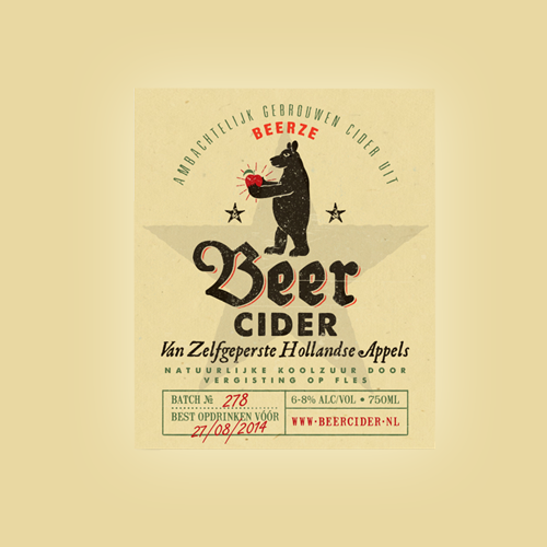 Product label for Beer Cider by no noise