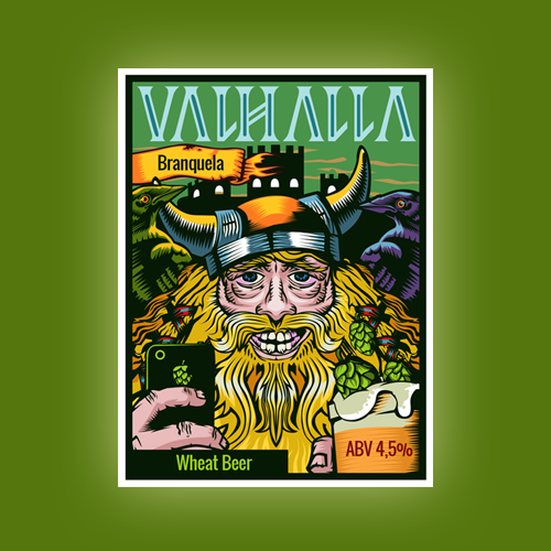 Product label for Valhalla by Bence Balaton
