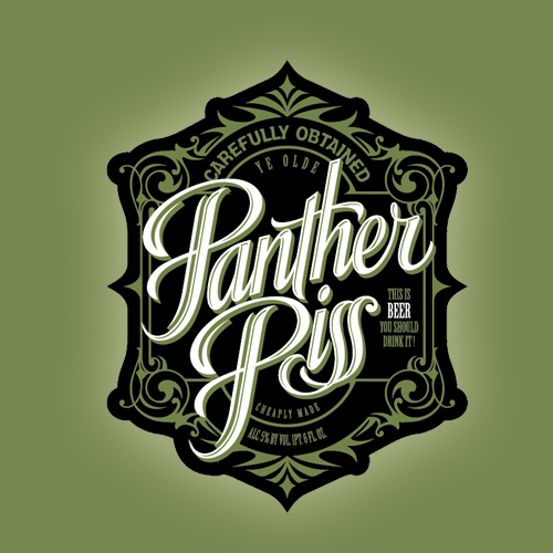 Logo design for Panther Piss by gcsgcs
