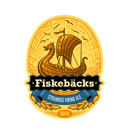 Product label for Fiskeb‰cks by ?e s o l o g