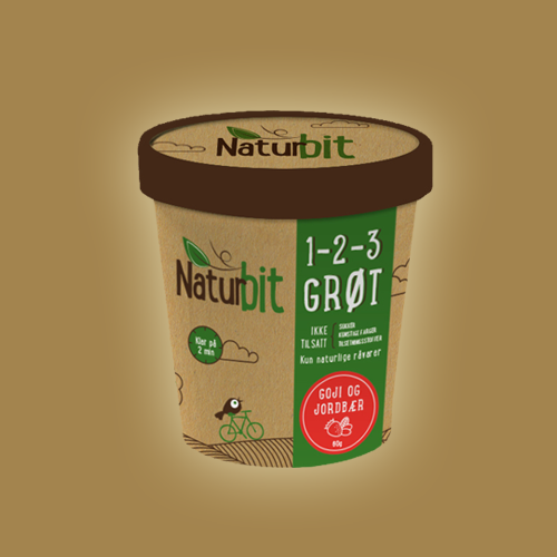 Product packaging for Naturbit by Milakat