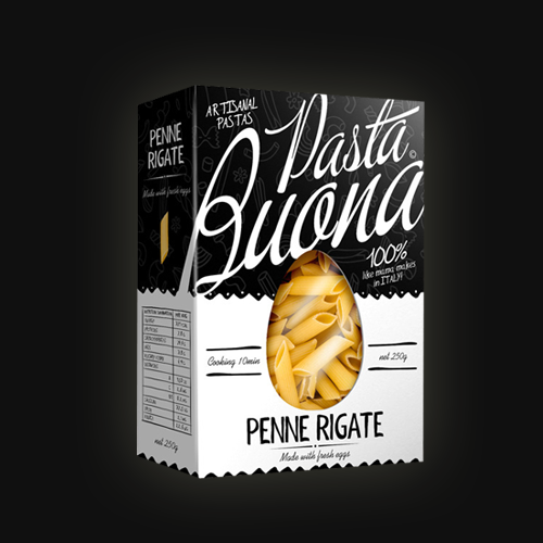 Product packaging for Pasta buona by tomdesign.org