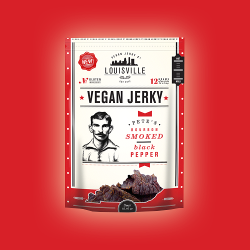 Product packaging for Louisville Vegan Jerky Co by Mj.vass