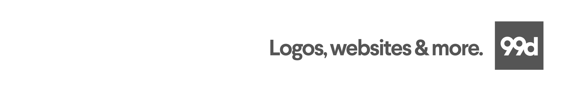 99designs logomark tagline usage