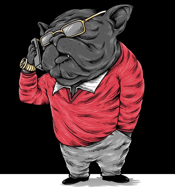 Barry die Bulldogge brennt bereits darauf dir einen Job zu besorgen