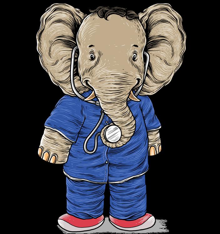 Eli der Elefant ist der Arzt, der euch beruhigt