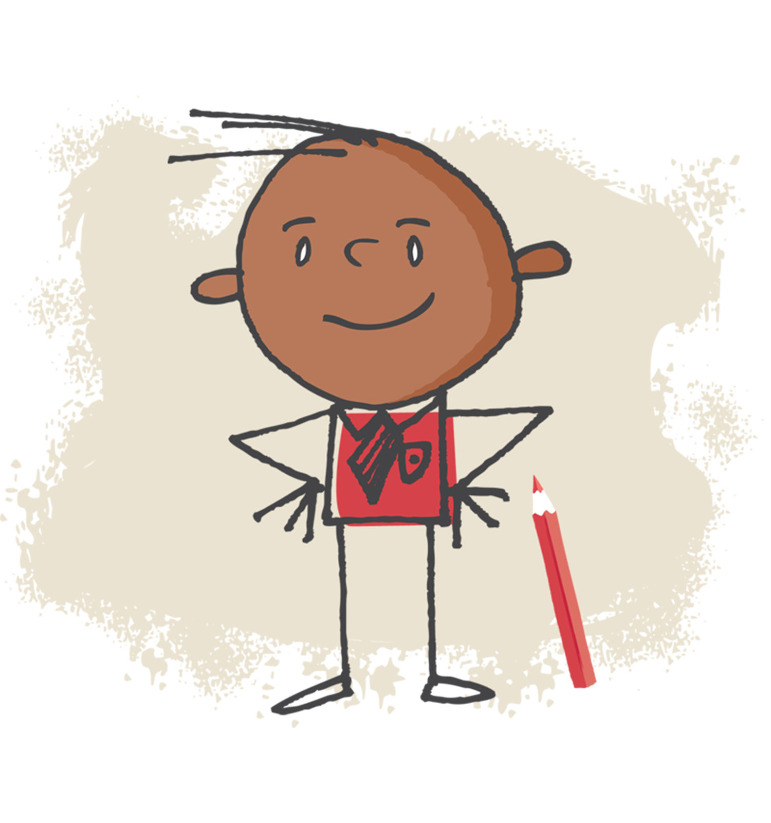 Child's drawing of a businessman