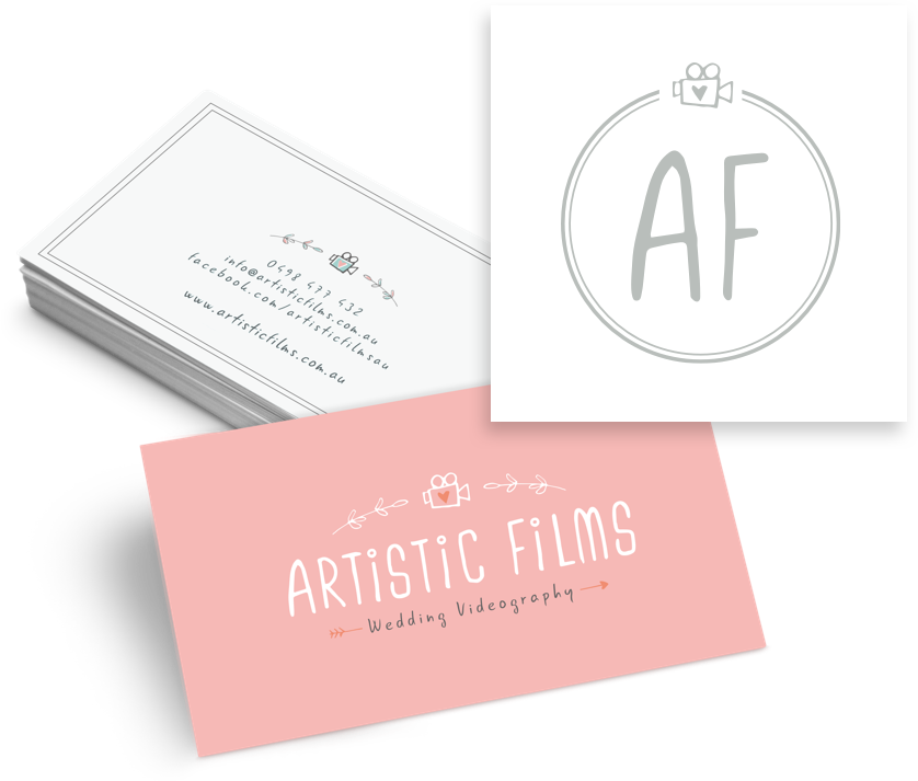 Artistic films logo & business card design by tykw