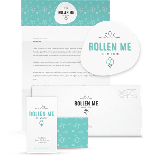 Rollen Me logo & brand identity pack design by ananana14