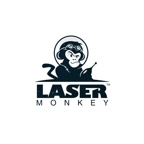 Logo design for Laser Monkey by Hazel Anne