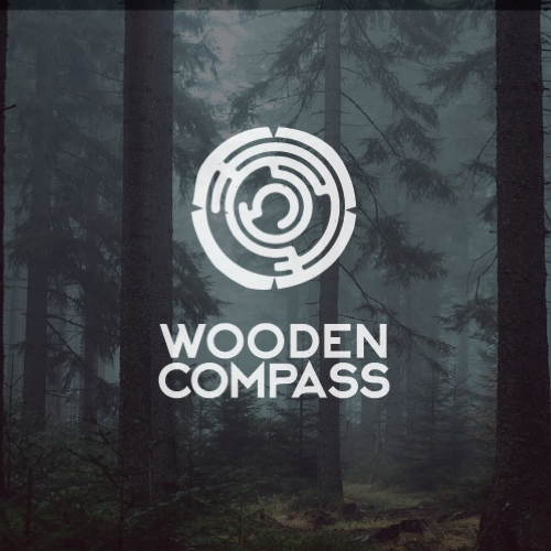 Logo & social media pakket voor Wooden Compass door danhood