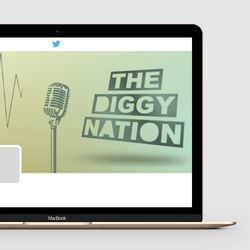 Design de logo para The Diggy Nation por zennbarg