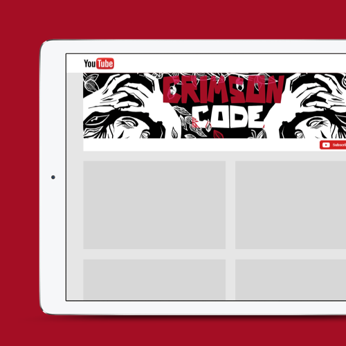 Logo e social media per Crimson Code di art of modern rock