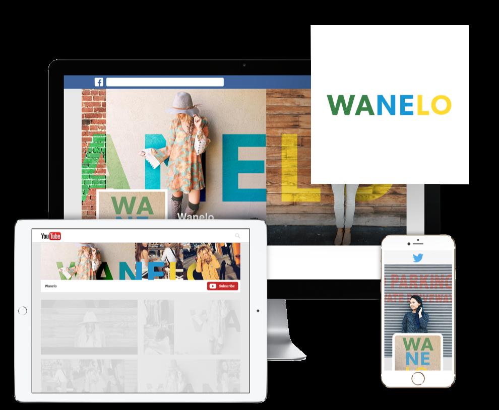 WANELO社、ロゴ&SNSデザインセット、デザイナー:vectro