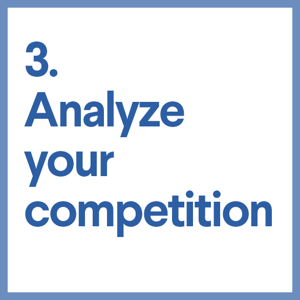3. Analyze your competition