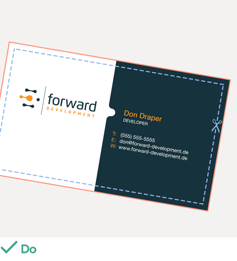 How to design business cards business card design tips for be sure to save each side of the business card in separate files for the printer and label them as such colourmoves