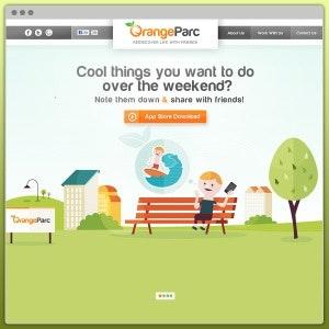 Winning Web page design entry for OrangeParc