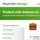 Runner up Web page design entry for PropertyPro Manager