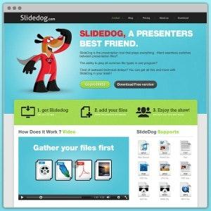 Winning Web page design entry for SlideDog.com