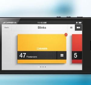 Winning App design entry for Blink Pocket