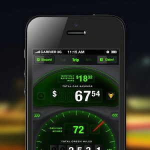Winning App design entry for Drivewise