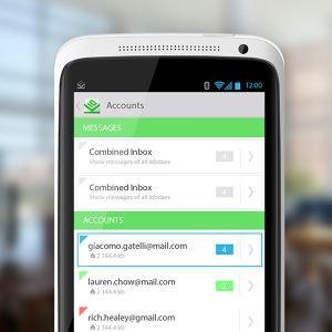 Winning App design entry for K-10 Mail