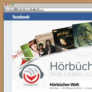 Winning Social media page entry for Hörbücher-Welt.de