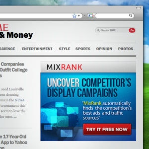 Winning Banner ad entry for MixRank