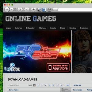 Winning Banner ad entry for ByteSize Games