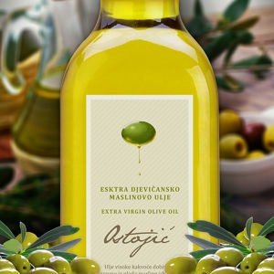 Winning Product label entry for Olive Oil