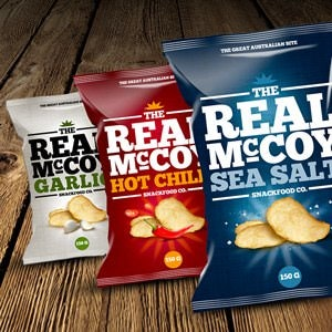 Winning Product packaging entry for Snack Brands Australia