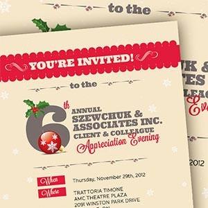 Winning Card or invitation entry for Szewchuk & Associates Inc.