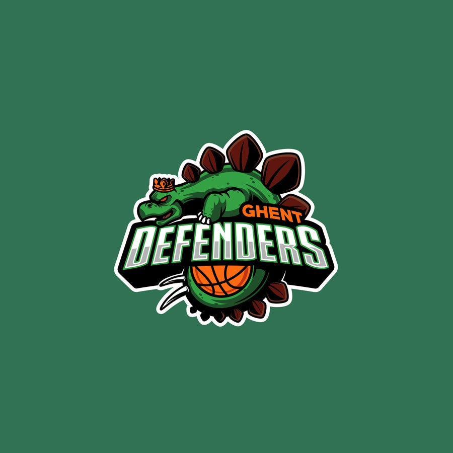 Ghent Defenders basketball team sports logo
