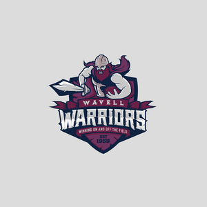 Wavell warriors sports logo