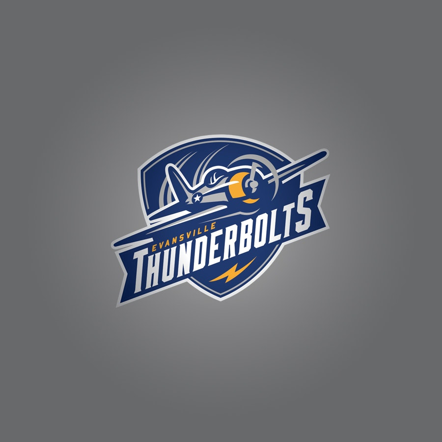 Evansville Thunderbolts sports logo