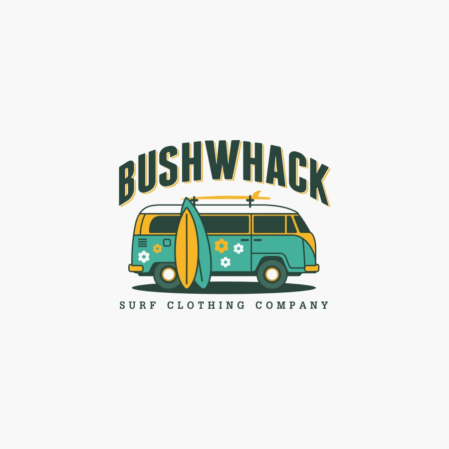 Bushwhack Surf Clothing fashion logo