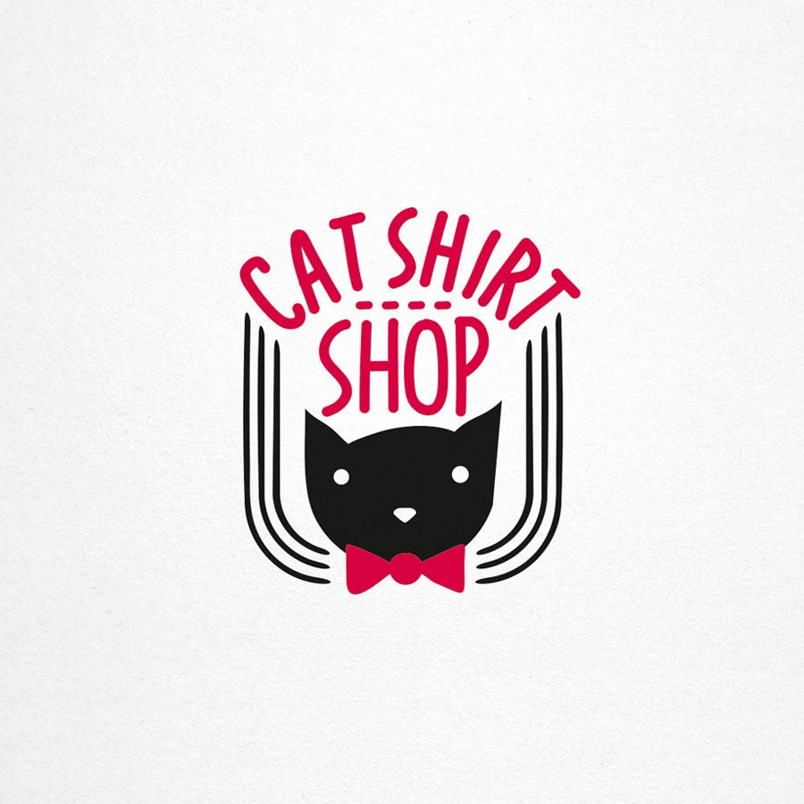 Cat Shirt Shop fashion logo design