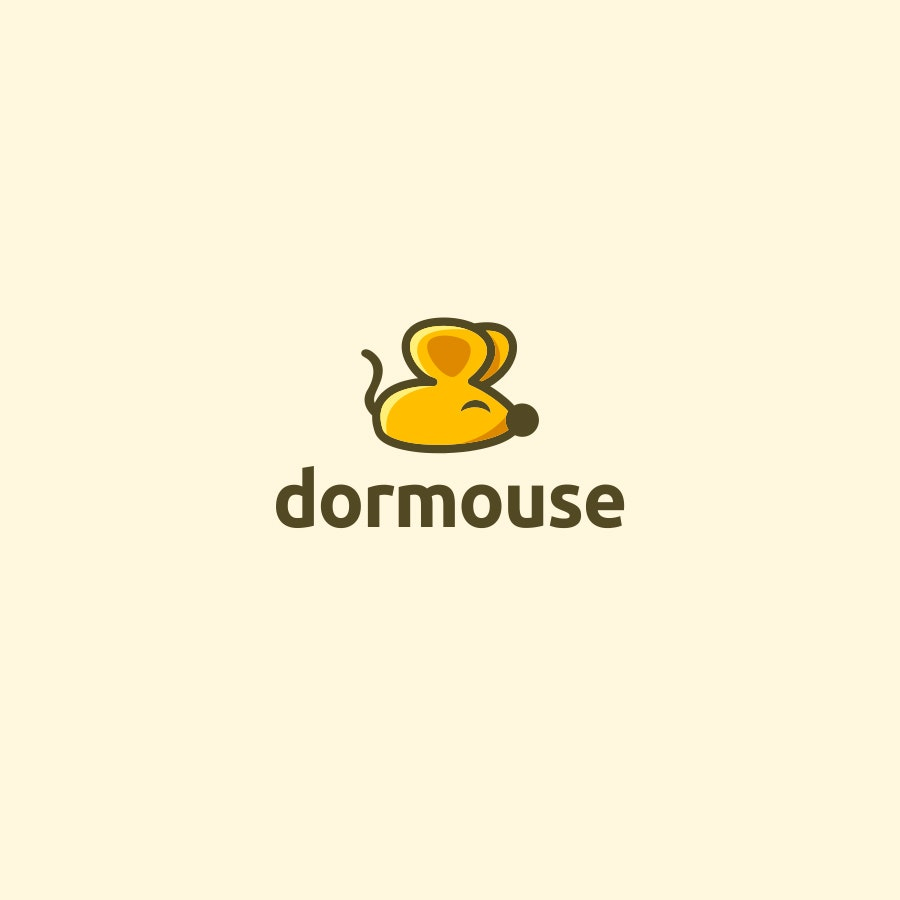 Dormouse fashion logo