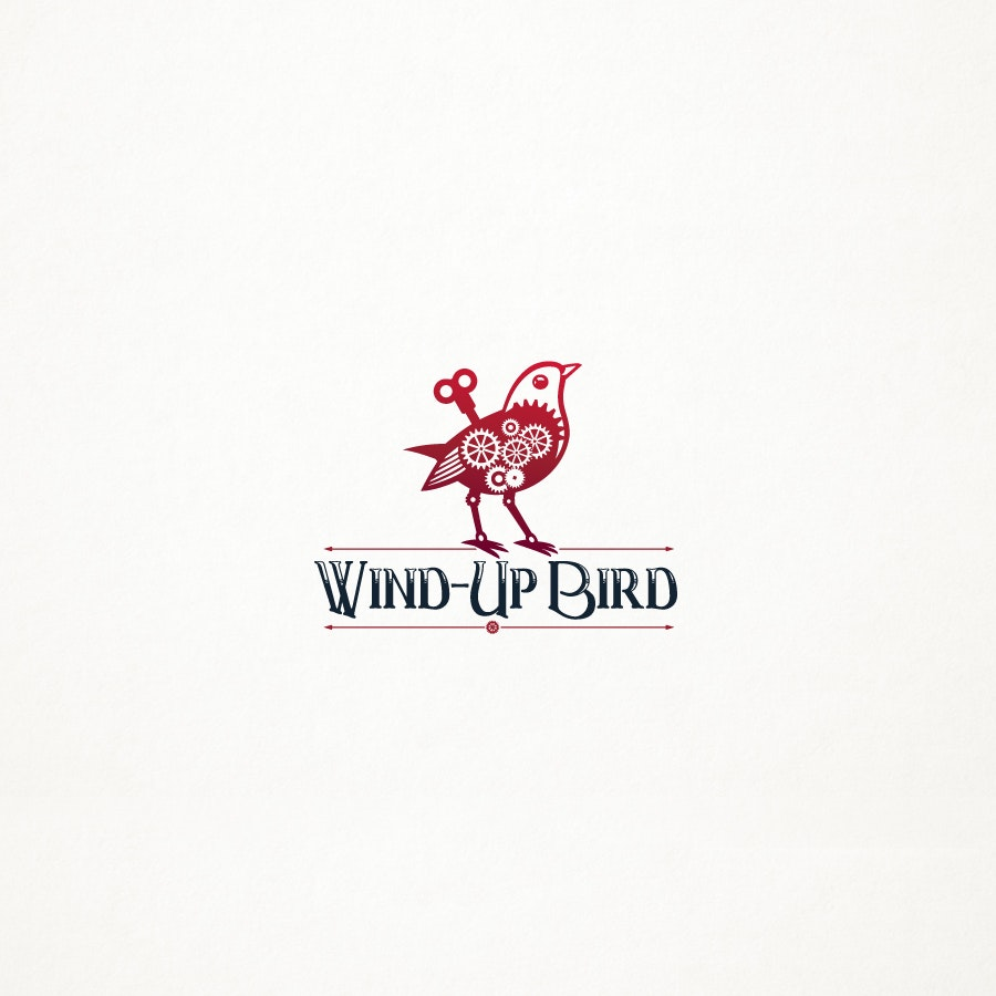 Wind Up Bird fashion logo design