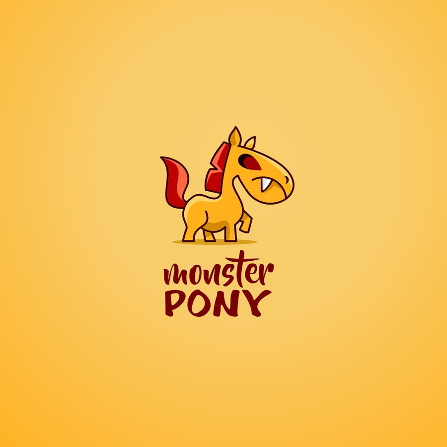 Monster Pony business logo design
