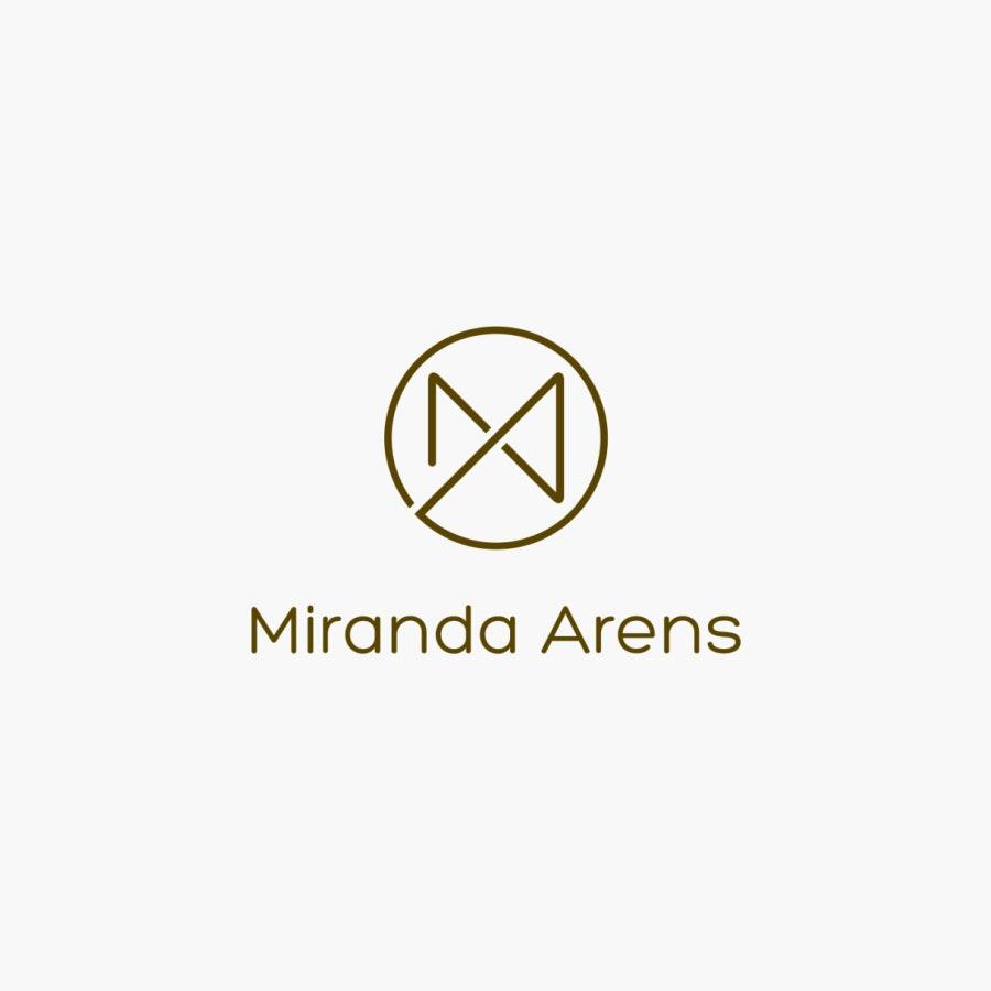 Miranda Arens lettermark business logo