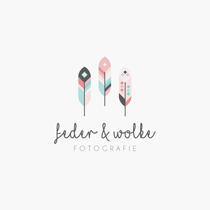 Feder Wolke photography logo design