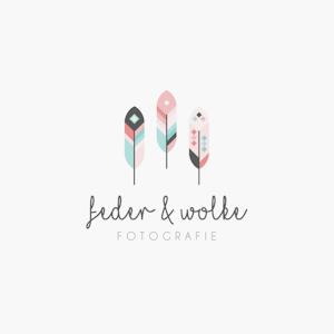Feder Wolke photography logo design