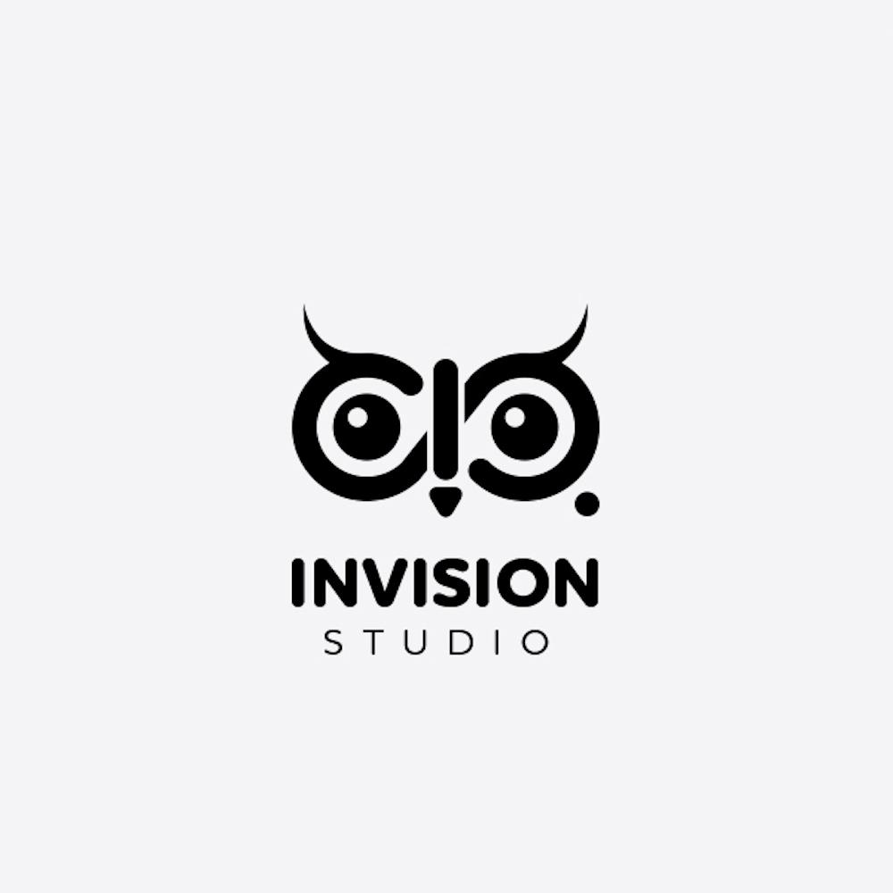 Invision Studio photography logo