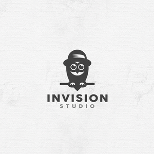 Invision Studio owl photo logo