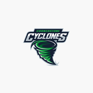 Cornerstone Cyclones sports logo design