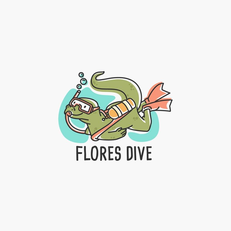 Flores Dive sports logo